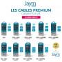 CABLE RENFORCÉ DUPONT(TM) KEVLAR® USB VERS TYPE-C 2,5M - GARANTIE A VIE - JAYM®