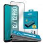 VERRE TREMPE PREMIUM 3D FULL GLUE CONTOUR NOIR AVEC APPLICATEUR POUR APPLE IPHONE 12 / 12 PRO (6.1) - JAYM®