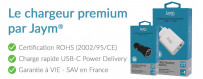Le chargeur USB-C 'Premium' garanti à vie, pensé par Jaym®