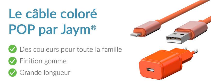 Le câble coloré POP   Jaym Shop